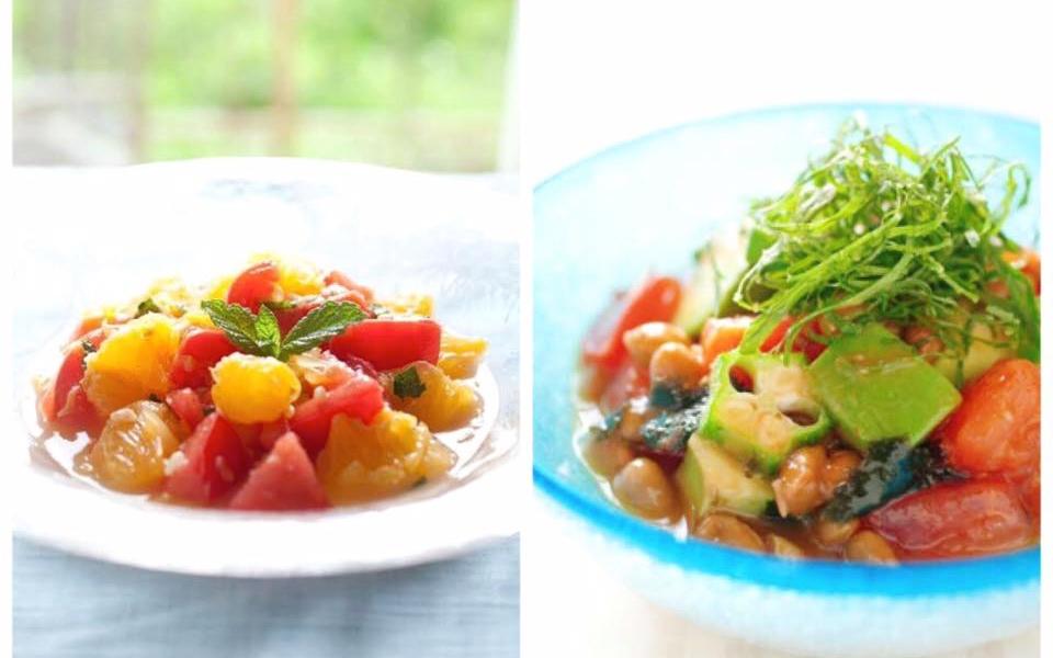 【レシピ提供】木下あおいさん主催、インナービューティー料理教室のレシピを考案しました。トマトづくしの火を使わない料理