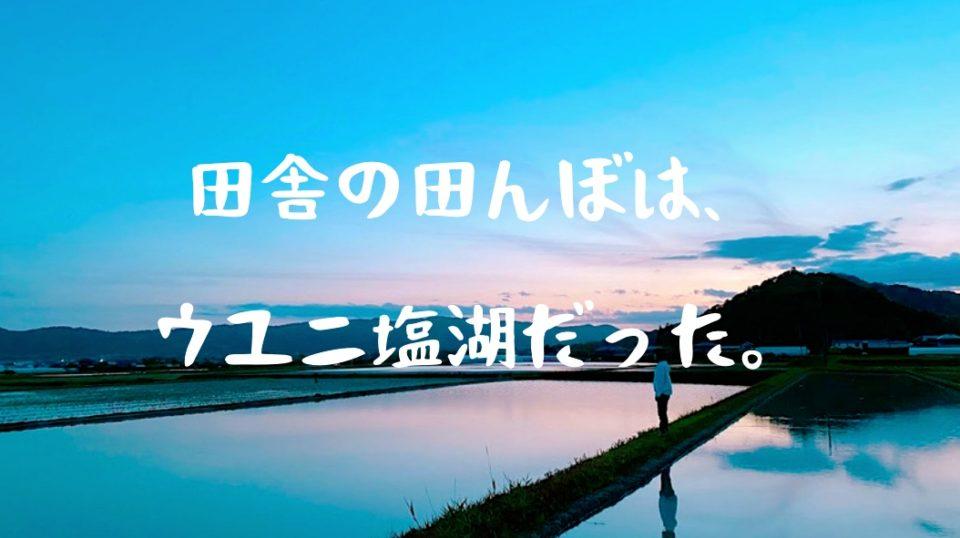 【世界が動き出す、その日まで…】千葉のド田舎を散歩したら、ウユニ塩湖みたいな神秘的な写真が撮れてしまった。
